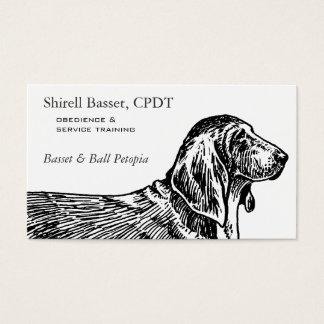 バセットハウンド犬ビジネス 名刺
