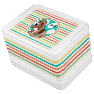 バセットハウンド; 明るい虹は縞で飾ります クールボックス
