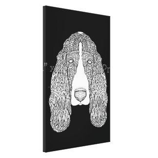 バセットハウンド-詳しい犬 キャンバスプリント