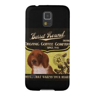 バセットハウンド- Organic Coffee Company Galaxy S5 ケース
