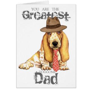 バセット犬のパパ カード