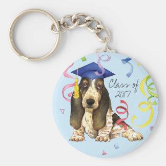 バセット犬の卒業生 キーホルダー