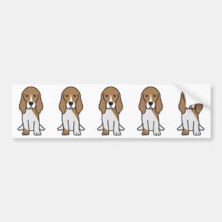 バセット犬の掘抜きのNormand犬の漫画 バンパーステッカー