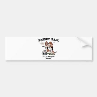 バセット犬の球 バンパーステッカー