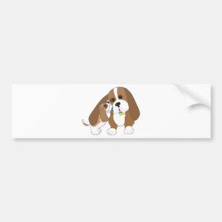バセット犬の話のパパ バンパーステッカー