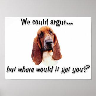 バセット犬の議論 ポスター