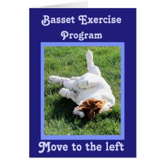 """""""バセット犬エクササイズプログラム""""の; """"ちょうどのでカード"""" カード"""