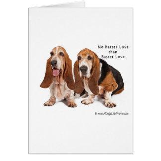 バセット犬愛よりよい愛無し カード