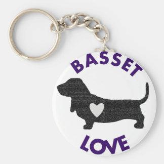 バセット犬愛Keychain キーホルダー