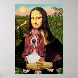 バセット犬1 -モナ・リザ ポスター