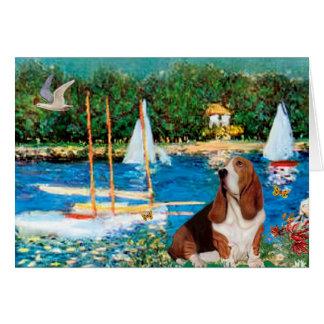 バセット犬2 -ヨット カード