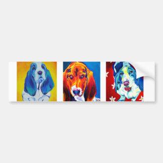 バセット犬#1 バンパーステッカー
