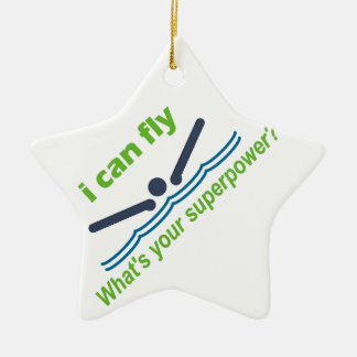 バタフライの泳ぐ人のための素晴らしいギフト! セラミックオーナメント