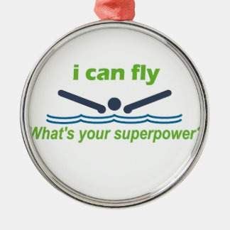バタフライの泳ぐ人のための素晴らしいギフト! メタルオーナメント