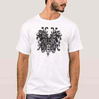 バタフライ効果(b&w) tシャツ