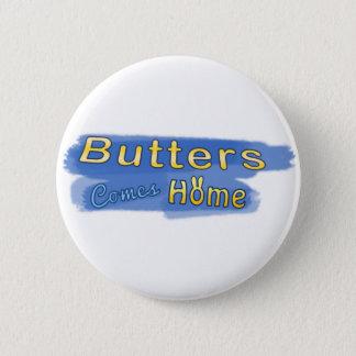バターは家ボタンを来ます 5.7CM 丸型バッジ