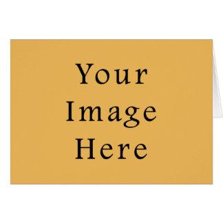 バタースコッチのカラメルの黄色色の傾向のテンプレート カード