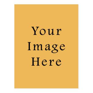 バタースコッチのカラメルの黄色色の傾向のテンプレート ポストカード