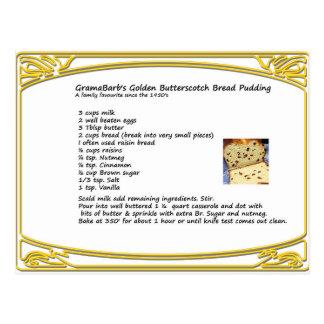 バタースコッチのパンプディングレシピ ポストカード