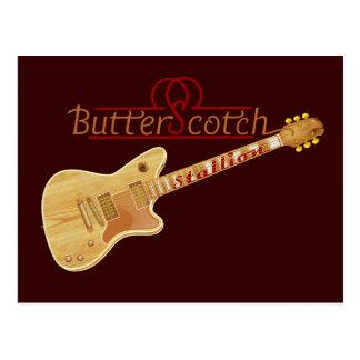 バタースコッチの種馬のエレキギター ポストカード