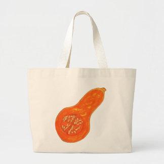 バターナットカボチャのトート ラージトートバッグ
