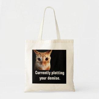 バタープロットおもしろいな猫の予算のトート トートバッグ
