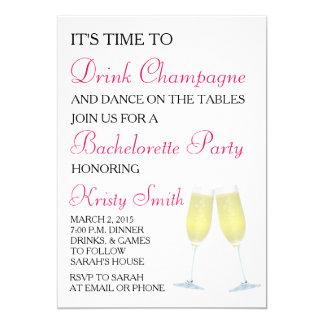 バチェロレッテか雌鶏のパーティの招待状 カード