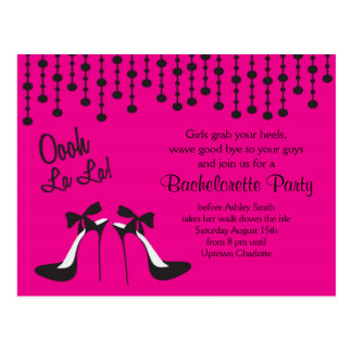 バチェロレッテのアイディアのパーティー/女の子夜 ポストカード