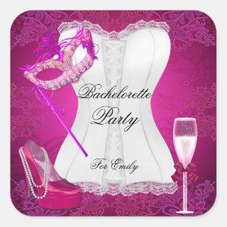バチェロレッテのコルセットのピンクはマスクに蹄鉄を打ちます スクエアシール