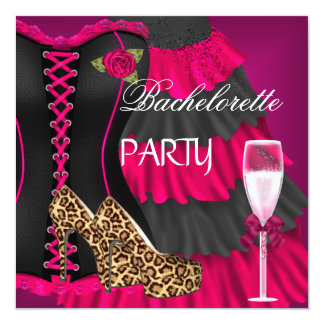 バチェロレッテのコルセットの黒のピンクの服靴 カード
