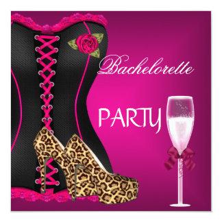 バチェロレッテのコルセットの黒のピンクの靴 カード