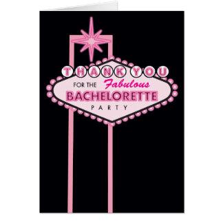 バチェロレッテのサンキューカード-ラスベガス カード