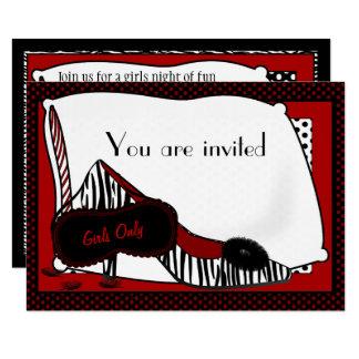 バチェロレッテのパジャマのパーティの招待状 カード