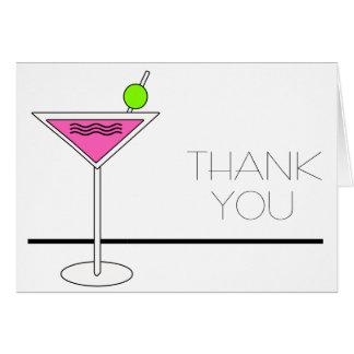 バチェロレッテのピンクのマルティーニのカクテルパーティー カード