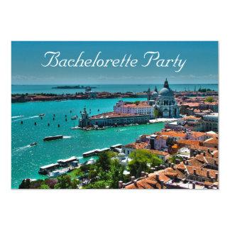バチェロレッテのベニス風スタイルのパーティの招待状 カード