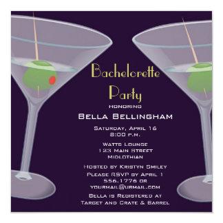 バチェロレッテのマルティーニの招待状 カード