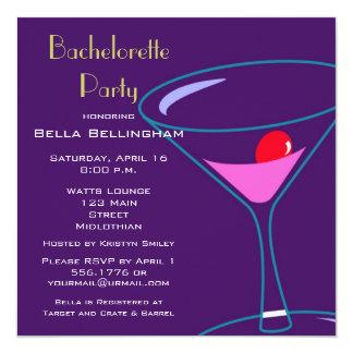 バチェロレッテのマルティーニガラスの招待状 カード