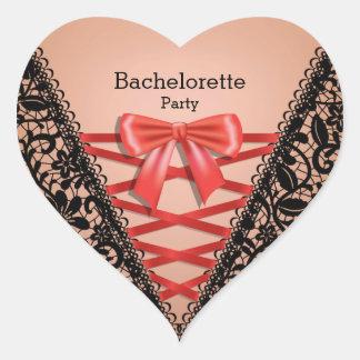 バチェロレッテのレースのダマスク織のランジェリーのコルセット ハートシール