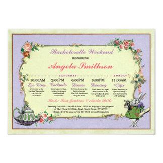 バチェロレッテの不思議の国のウサギのライムの旅程の計画 カード