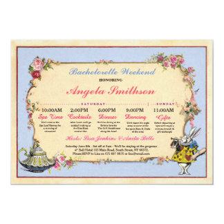 バチェロレッテの不思議の国のウサギの青い旅程の計画 カード