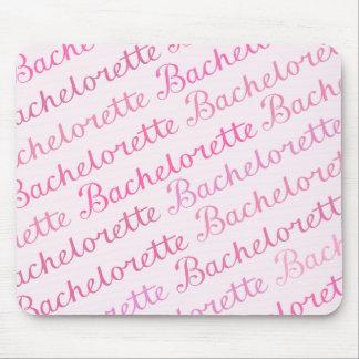バチェロレッテの原稿の斜めの繰り返しパターンピンク マウスパッド