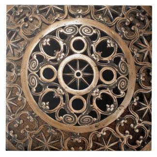 バチカンの神秘的な古代金属の青銅のsteampunk タイル