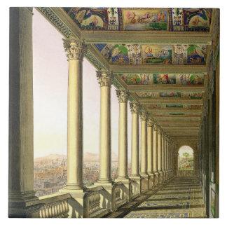 バチカンの第3床のLoggiaの眺め、ウィット タイル