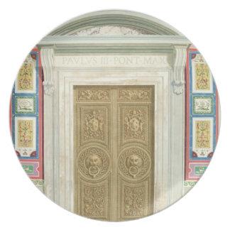 バチカンのRaphaelのLoggiaへの戸口、から プレート