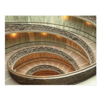 バチカン博物館の階段 ポストカード