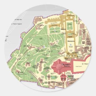バチカン市国の地図 ラウンドシール