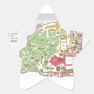 バチカン市国の地図 星シール