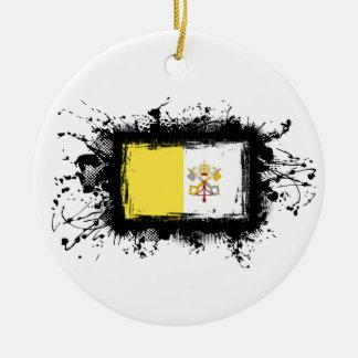 バチカン市国の旗 セラミックオーナメント