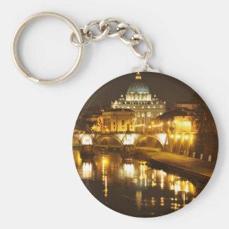 バチカン市国、ローマ、夜のイタリア キーホルダー