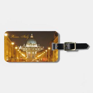 バチカン市国、ローマ、夜のイタリア ラゲッジタグ